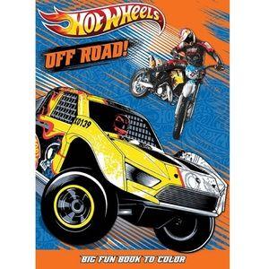 """Hot Wheels Big Fun Book To Color""""Off Road"""""""